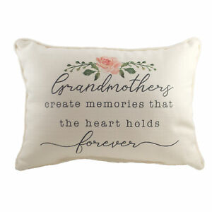 Home Decor Grandmothers Forever Pillow Fabric Memories Family Txt0570