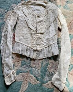 Antique Fancy Blouse for French / German Bisque Doll