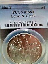 ''PCGS'' MS69 - Lewis & Clark Silver (90%) Commemorative Dollar