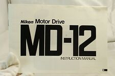 Nikon Motor Drive MD-12 Instruction Manual E 6102067