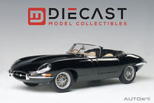AUTOART 73605 JAGUAR E-TYPE ROADSTER SER. I 3.8 BLACK W/METAL WIRE-SPOKE WHEELS