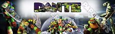 "TMNT Ninja Turtles Banner Poster 30"" x 8.5"" Personalized custom name painting"