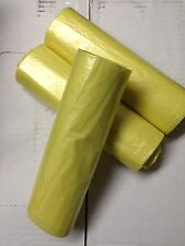 """AEP 33"""" x 39"""" Yellow Trash Garbage Can Liners 1.3mil 100/cs"""