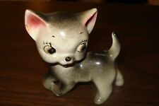 Cat kitten cersmis Vintage Grey & White Ceramic