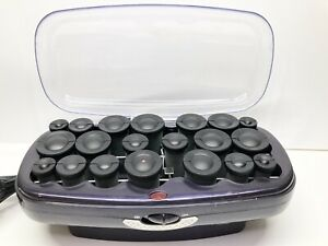 Conair Infinity Pro Hot Rollers Curlers Flocked 20ct CHV27R No Clips