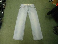 "Lee Cooper Straight Jeans Waist 32"" Leg 31"" Faded Light Blue Mens Jeans"