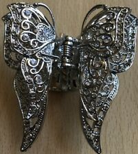 A Stunning Metal Double Butterfly Claw Clip