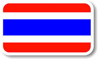 Vinyl sticker/decal Medium 120mm Thailand  flag  (Thai flag)