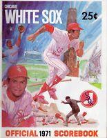 1971 (May 28) Baseball program Cleveland Indians @ Chicago White Sox, unscored