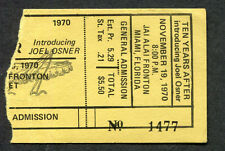 Original 1970 Ten Years After concert ticket stub Miami I'm Going Home