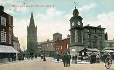 UK Rugby - Clock Tower and Church 1910 postcard
