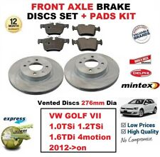 FOR VW GOLF VII 1.0 1.2 TSi 1.6TDi 4motion 2012-> FRONT BRAKE PADS + DISCS 276mm