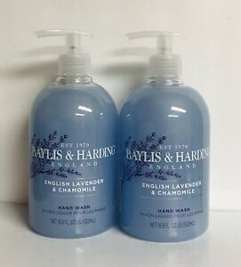 2 Bottles English Lavender & Chamomile Moisturizing Hand Wash 16.9 fl oz Each