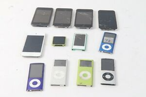Apple Ipod Assortiment Lot De 12 A1199 4GB A1199 2GB A1285 16GB 2x A1367 32GB