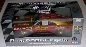 NASCAR Series 1:18 1969 #22 Bobby Allison Dodge Charger - Limited Edition.