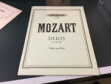 Mozart Duos For Violin And Viola, K.V. 423, 424, Edition Peters