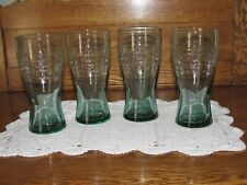 4 McDonald's 15 cent Hamburger in 1948 GREEN 16 OZ Drinking Glasses