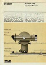 Original Wild Heerbrugg Rk1 Plane Table Outfit Data Sheet - Good - Surveying