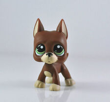Littlest Pet Shop LPS Brown Great Dane Dog Puppy Green Eyes Kids Girl toys #1519
