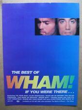 THE BEST OF WHAM - GEORGE MICHAEL - 1997 -  MUSIC PRESS ADVERT 30 X 22 CM