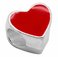Unbranded Silver Plated Love Hearts Costume Charms & Charm Bracelets