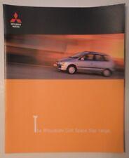 MITSUBISHI COLT SPACE STAR orig 1999 UK Mkt Large Format Sales Brochure