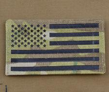 "IR Cordura Laser Cut Patch ""American / USA Flag Mult."" with VELCRO® brand hook"