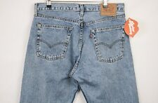 VINTAGE Mens LEVIS Jeans 505 Straight ZIP Fly RED TAB W36 L34 Rare UK MADE P25