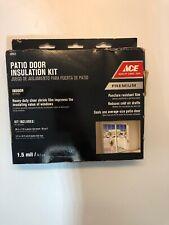 "Plastic Shrink Film Patio Door Insulation Kit Draft 84"" x 110"" ~ New"