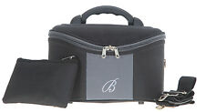 Beautycase Kosmetikkoffer Beauty Case Kulturtasche Schminkkoffer schwarz grau