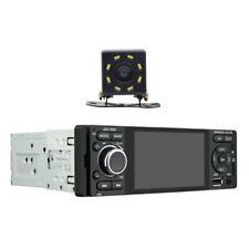 8LED Backup Camera+Single 1 Din Car Stereo Radio HD DVD Player Bluetooth AUX FM