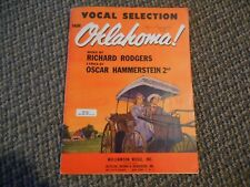 Old Vintage OKLAHOMA vocal selection Rodgers Hammerstein 1943 Music Song Booklet