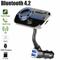 In-Car Wireless Bluetooth FM Transmitter MP3 Radio Adapter Car Kit 2 USB Charger
