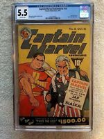 Captain Marvel Adventures #16 CGC 5.5 Oct 1942 Off/wht pg & full color photocopy