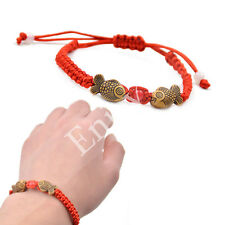 Chinese Traditional Pisces Fish Lucky Red String Bracelet Jewelry Unisex Gift