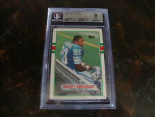 1989 Topps Traded Football--#83T Barry Sanders---Rookie---Graded BGS-9