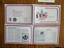 FRENCH ALLIANCE FRANCE & USA BEN FRANKLIN  1978 FIRST DAY CEREMONY FOLDER