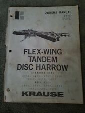Krause Flex Wing Tandem Disc Owners Manual