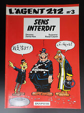 L'agent 212 N° 3 Sens Interdit Kox Cauvin EO 1983 TRES TRES BON ETAT