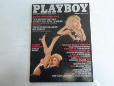 PLAYBOY JANUARY 1983 BLONDE AMBITIONS JUDY & AUDREY LANDERS LONNY CHINS (772)