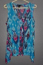 ROBERT LOUIS - M - Polyester/Spandex - COLORFUL Sleeveless TOP