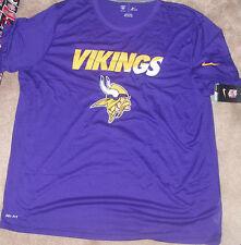 NEW NFL Minnesota Vikings T Shirt Men 3XL XXXL NIKE Dri Fit NEW NWT