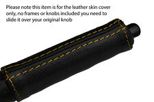 YELLOW STITCH HANDBRAKE HANDLE LEATHER COVER FITS NISSAN 300ZX Z31 1984-1989