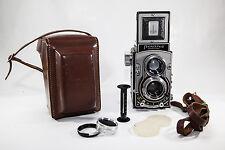 Czechoslovakia Meopta Czech TLR camera FLEXARET VII sportello automatico + LEATHER CASE
