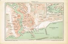 Plan de la ville de brest 1894 Original-Graphique