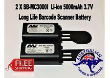 2 X Symbol MC3000I Li-ion 5000mAh 3.7V Scanner Battery fits many leading brands