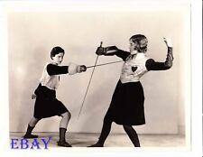 Shirley Dorman stabs Mary Brian VINTAGE Photo Beau Sabreur