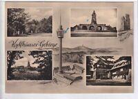 Ansichtskarte Kyffhäuser-Gebirge - Fernsehturm/Denkmal - schwarz/weiß