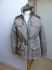 Primark quilted golden brown country set belted coat/jacket Autumn size 10