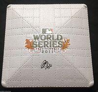JON JAY SIGNED MINI 2011 WORLD SERIES BASE ST LOUIS CARDINALS CHAMPIONS COA K1